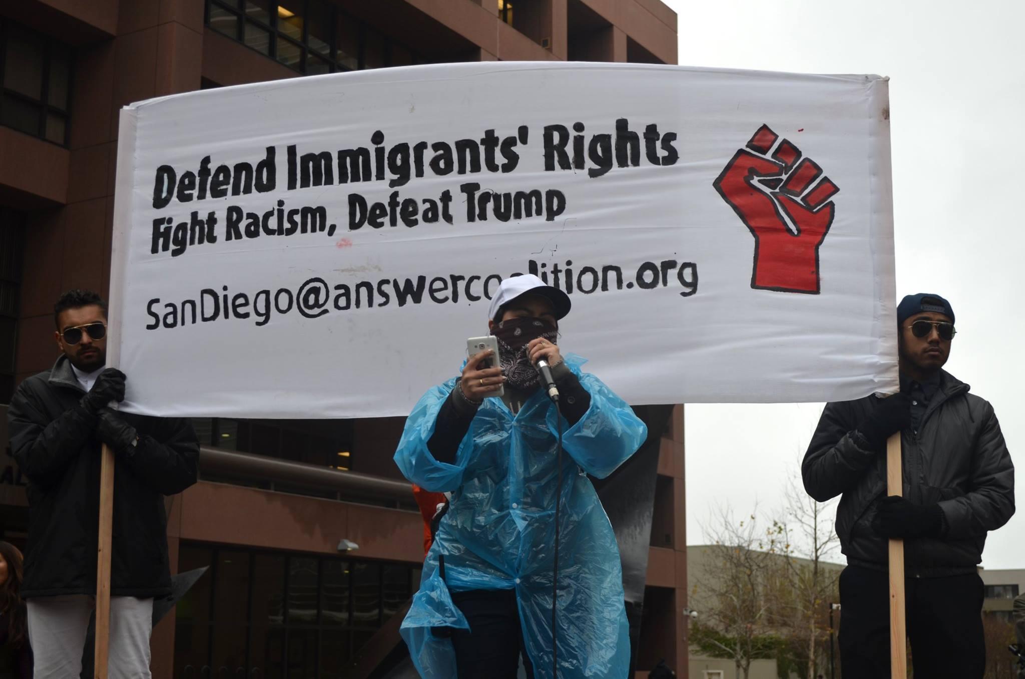 San Diego anti-Trump demonstration, Jan. 20