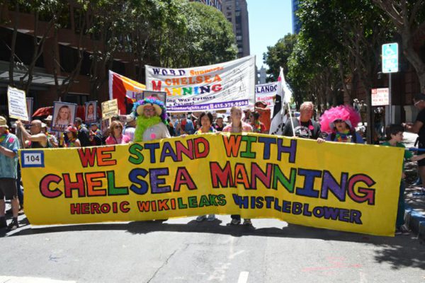 Part of the Chelsea Manning contingent in SF Pride 2016 | Photo: Gloria La Riva