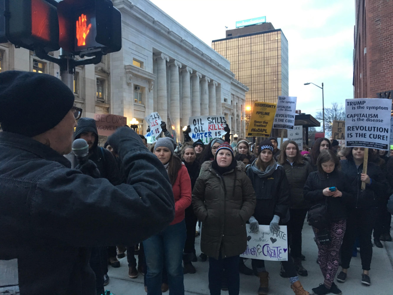 Photo of New Haven stands against DAPL