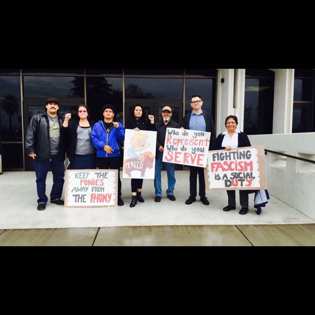 Photo of People of Merced stop county funding of Sheriff's Posse trip to Inauguration