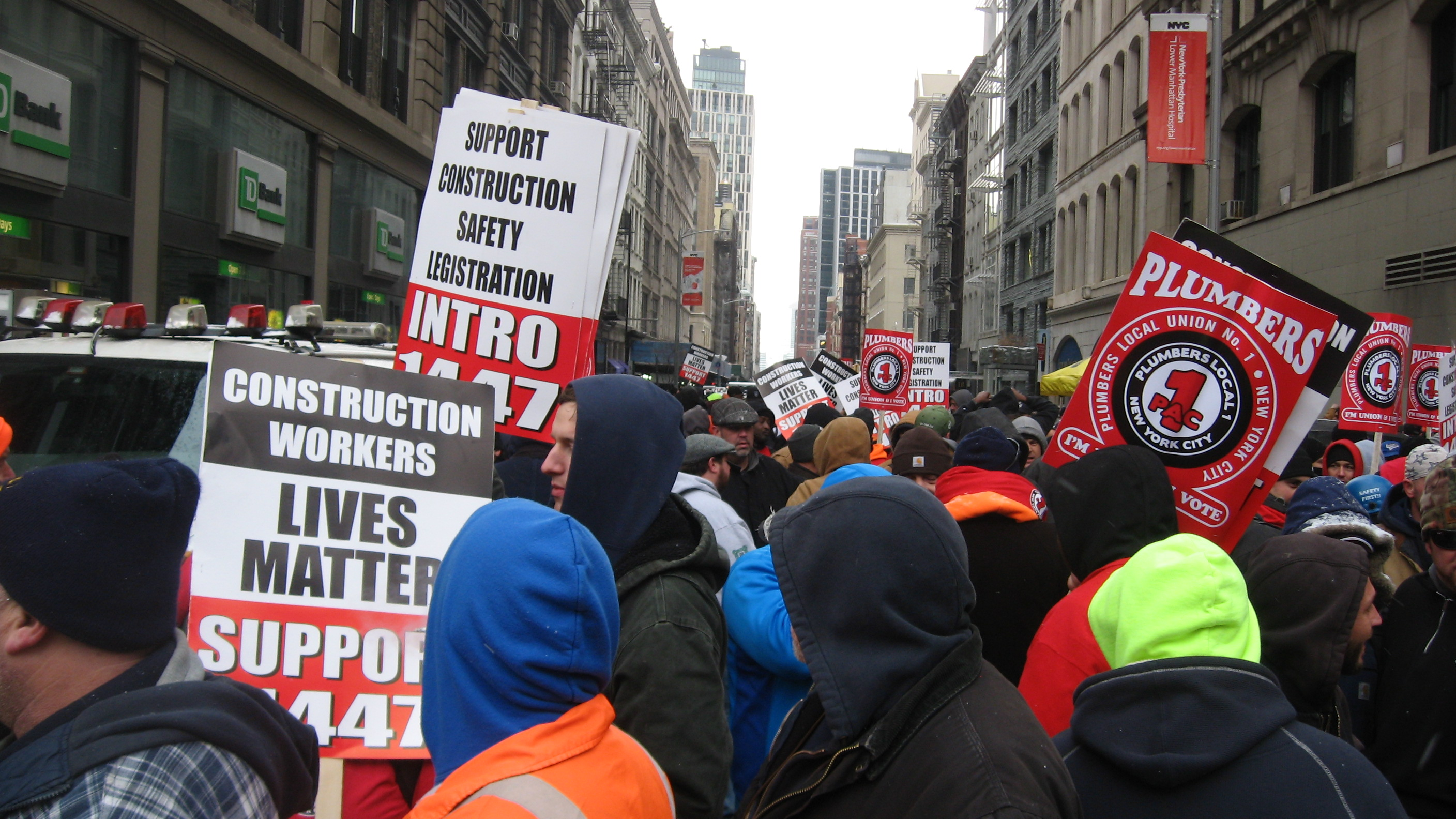 Photo of New York construction workers press rights for non-union workers