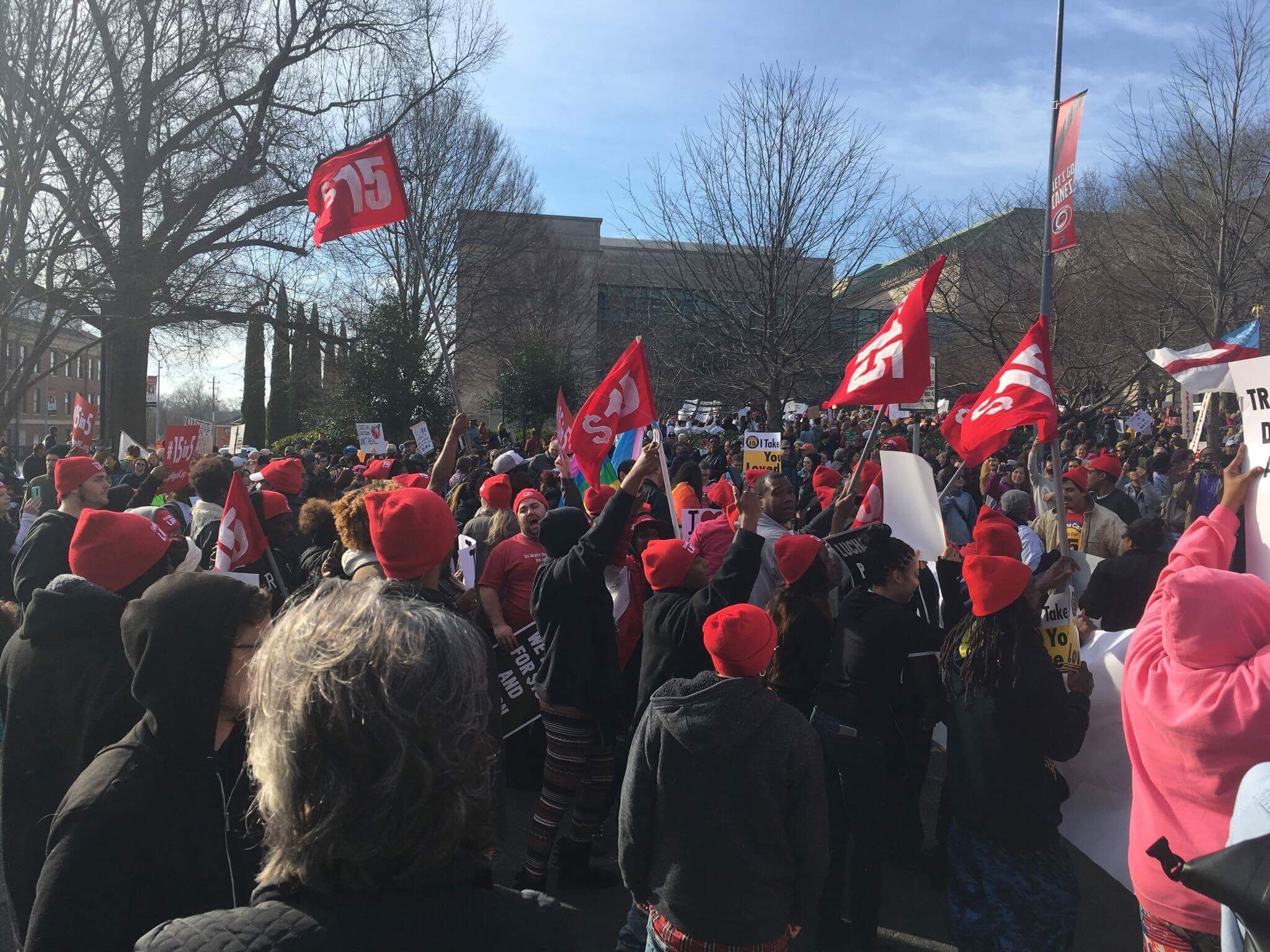 Photo of Moral March on Raleigh biggest yet