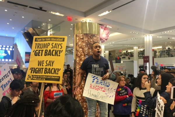 NYC trans march spills over into Macy's