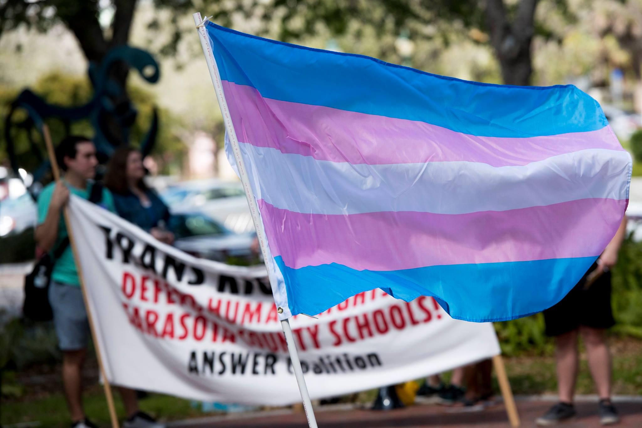 Photo of Sarasota protest defends trans community after Trump attacks