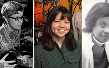 Left to right: ground-breaking scientists Vera Rubin, Deborah Jin, and Yvette Fay Francis-McBarnette
