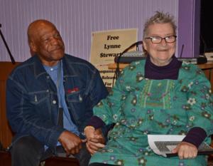 Lynne Steward with husband Ralph Poynter (Liberation photo: Gloria La Riva)