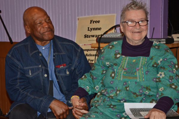 Lynne Steward with husband Ralph Poynter (Liberation photo: Gloria La Riva)