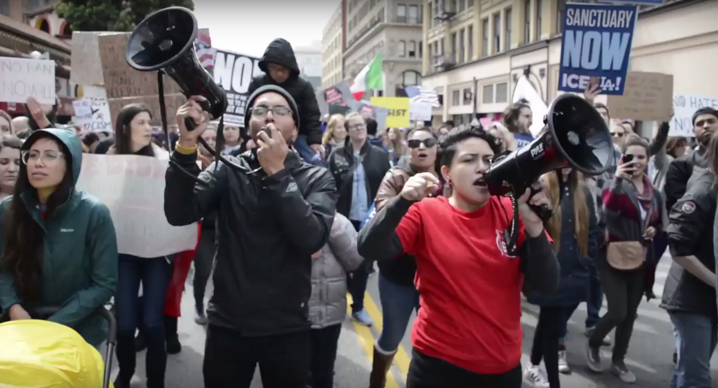 Photo of Video: Socialists in the fight for immigrants' rights