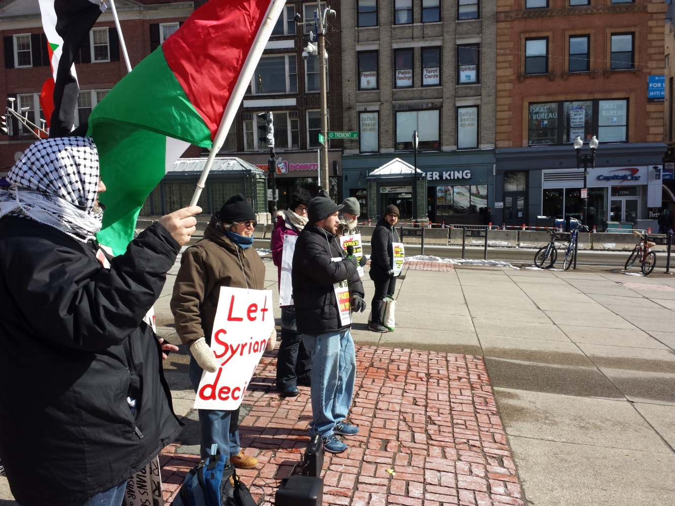 Photo of Boston: Vigil and speakout against US imperialism in Syria and Yemen