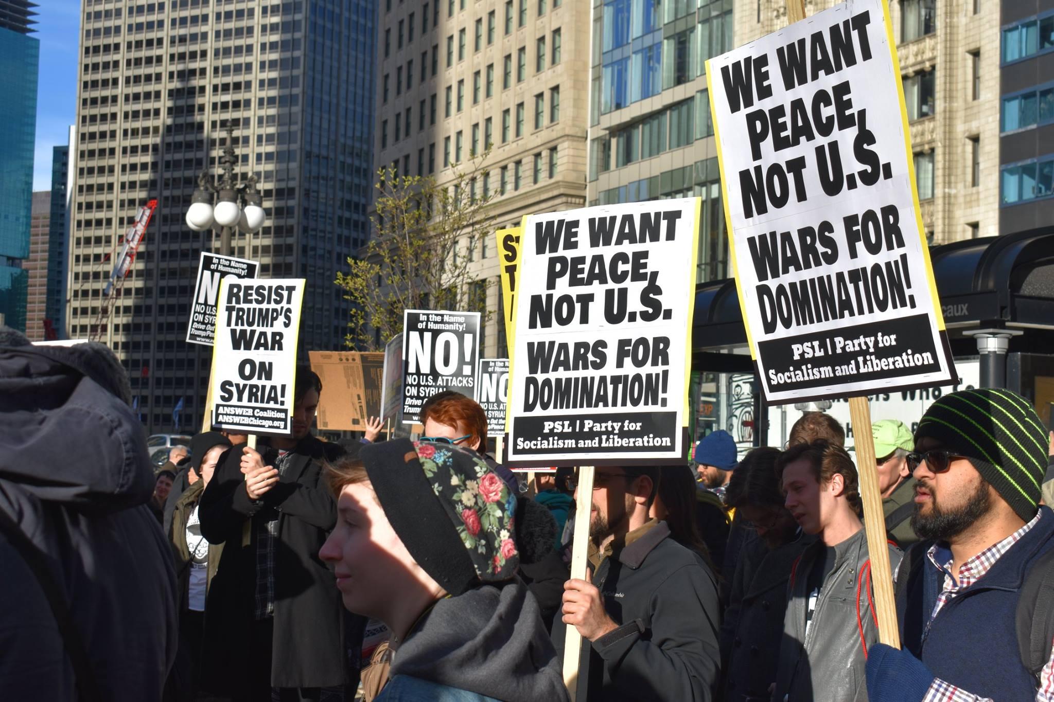 Photo of Chicago Protest: #HandsOffSyria!