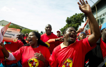 Members of NUMSA, the metal workers' union that played a central role in the founding of the new federation.