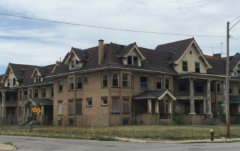 Vacant housing in Cleveland Ohio. Ohio was hard hit by the housing crisis.