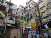 Shatila refugee camp; seven story building