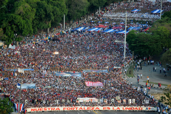 This year's May Day march, which brought out over 1 million Cuban, was organized around the theme
