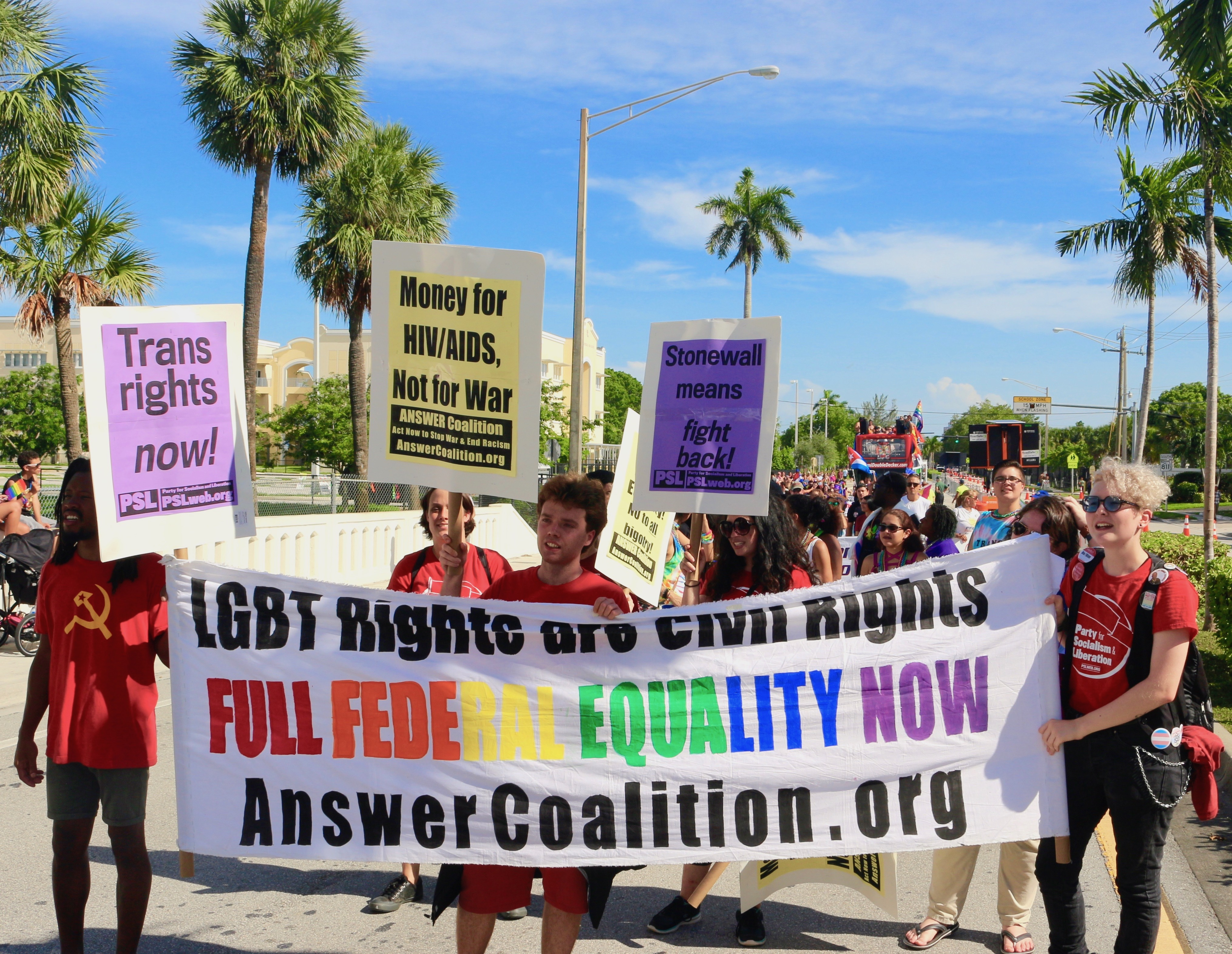 Photo of Wilton Manors Stonewall parade celebrates the LGBTQ movement's roots in rebellion