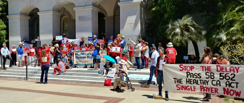 Photo of Calif. Assembly Speaker Rendon hit by nurse-led protest after shelving single-payer bill