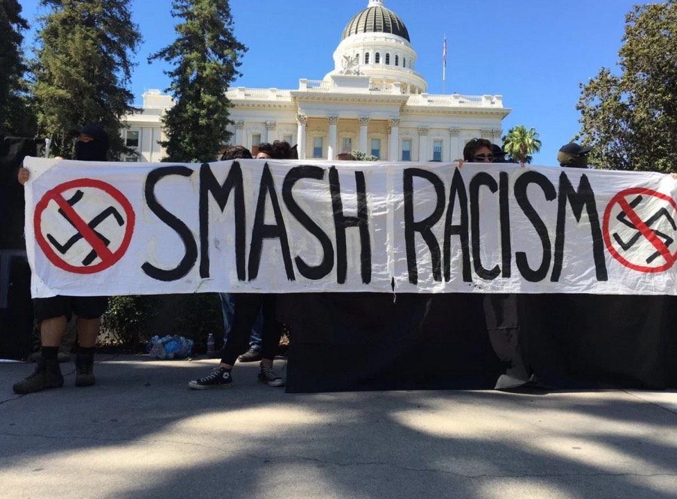 Photo of D.A. charges anti-fascist from Sacramento Neo-Nazi rally