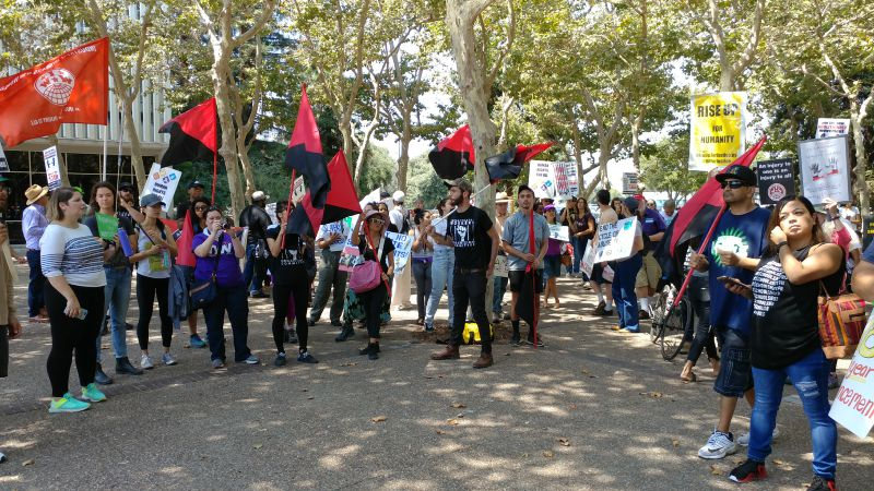 March and rally for prisoners' human rights in San José, Calif.
