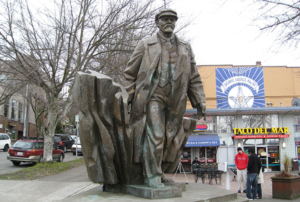 Statue of V.I. Lenin in Fremont neighborhood of Seattle.
