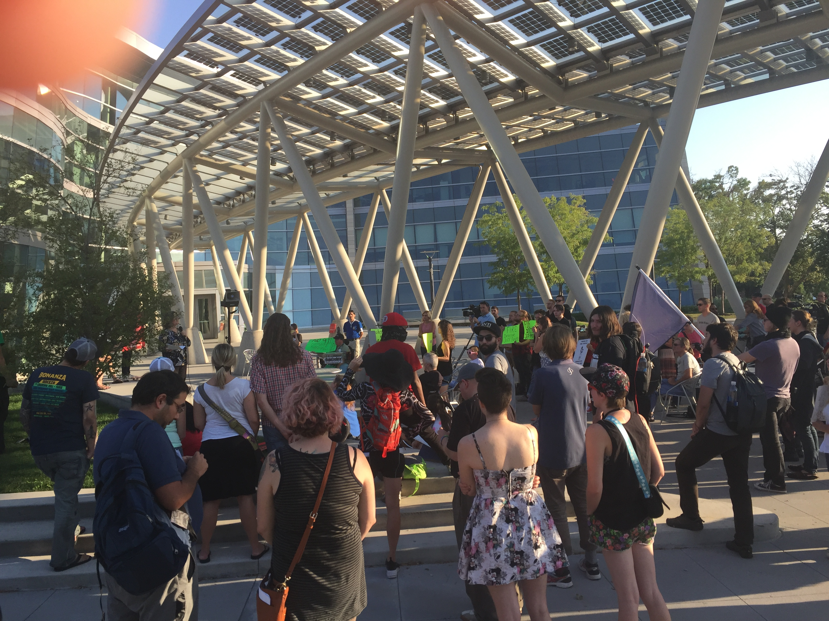 Protesters gathered outside police department in Salt Lake City, Utah