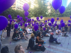 2017 International Overdose Awareness vigil in Seattle