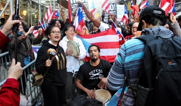 NYC protest a battle cry from the Puerto Rican diaspora