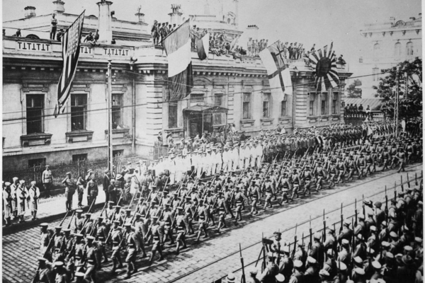 allied troops intervention against russian revolution