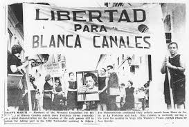 In 1950 Blanca Canales declared the free republic of Puerto Rico.