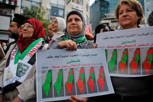 March in Ramallah