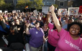 LGBTQ protesters Jackson Mississippi April 4, 2016