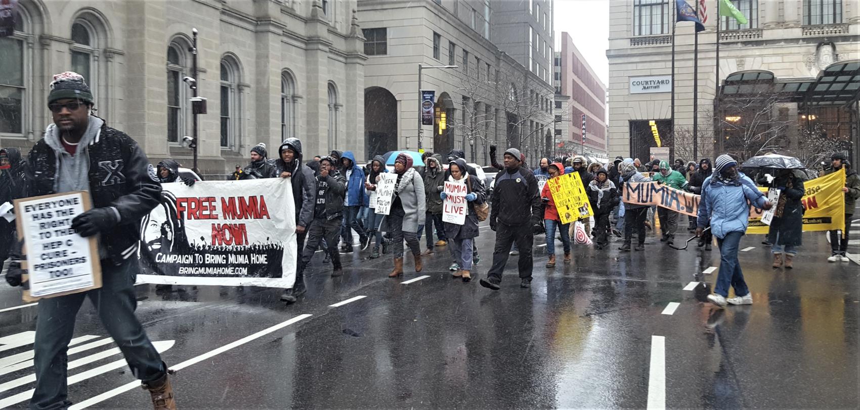 Photo of Philadelphia action demands freedom for Abu-Jamal now!