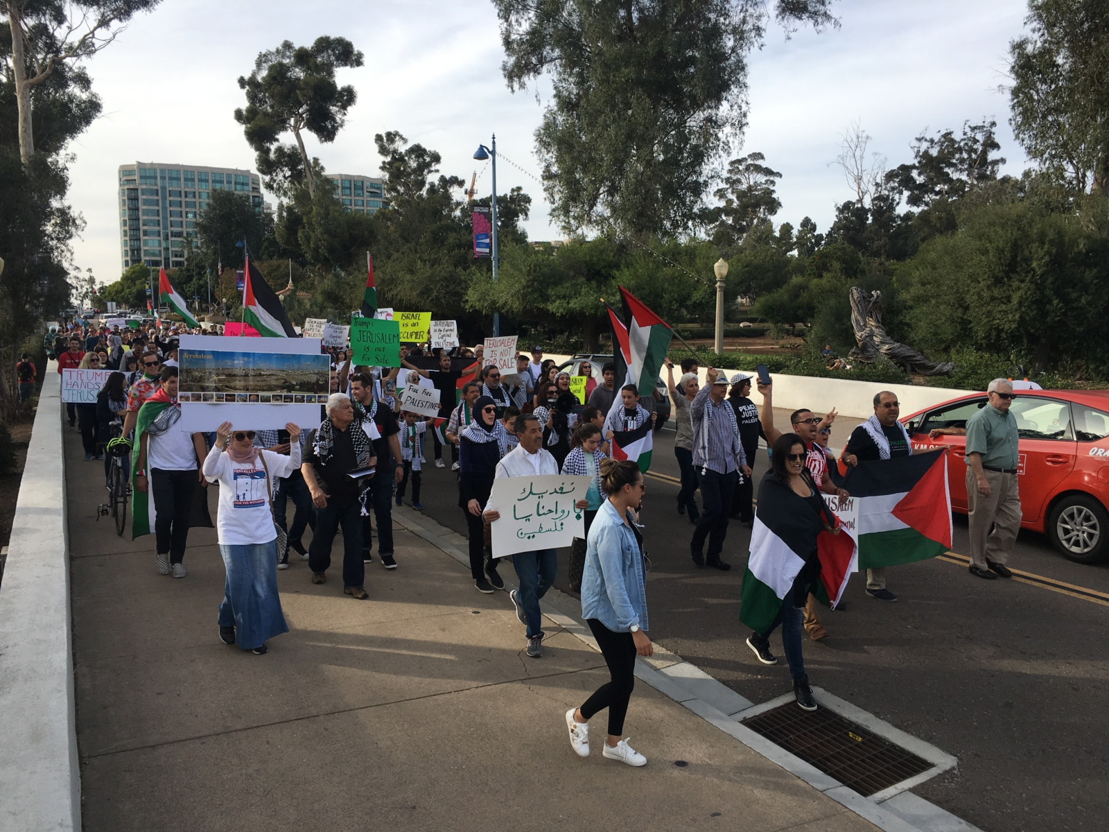 Photo of San Diego rally to support Palestine