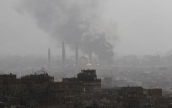 Smoke over Sana'a during Dec. 3 battles