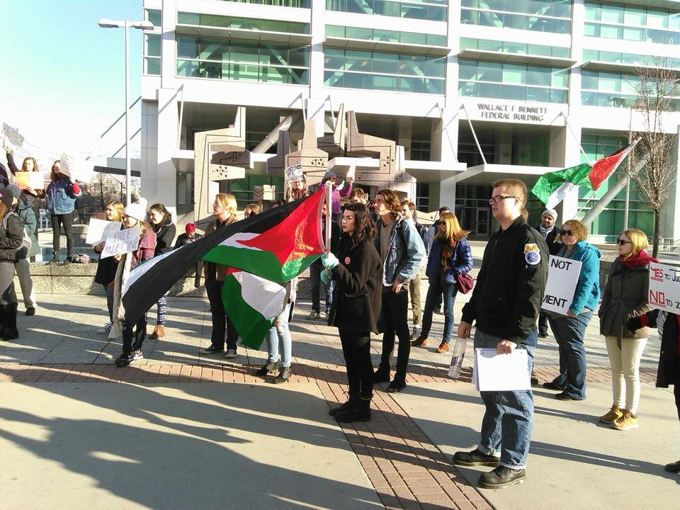 Photo of Salt Lake City rally for Palestine