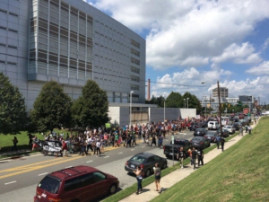Community march in solidarity with Durham defendants.