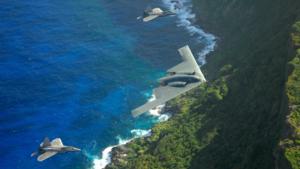 B-2 Spirit Stealth Bomber & F-22 Raptors Flying Over Guam)