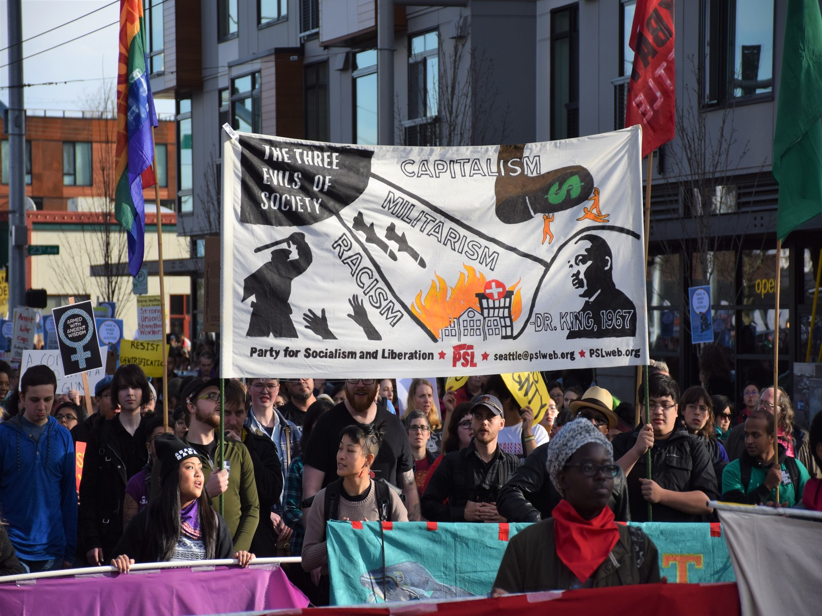 Anti-imperialists at Seattle MLK march say no to gentrification