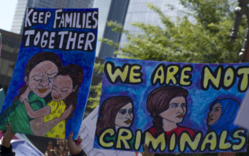 Los Angeles pro-immigrant rally. Liberation photo: Ben Huff