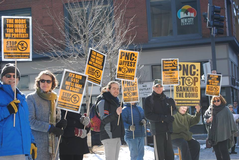 Responding to an imminent threat: PNC Bank anti-nuke campaign