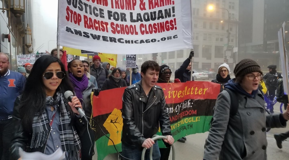 Chicago Marches Against Racism War And Bigotry On 1 Year Of Trump