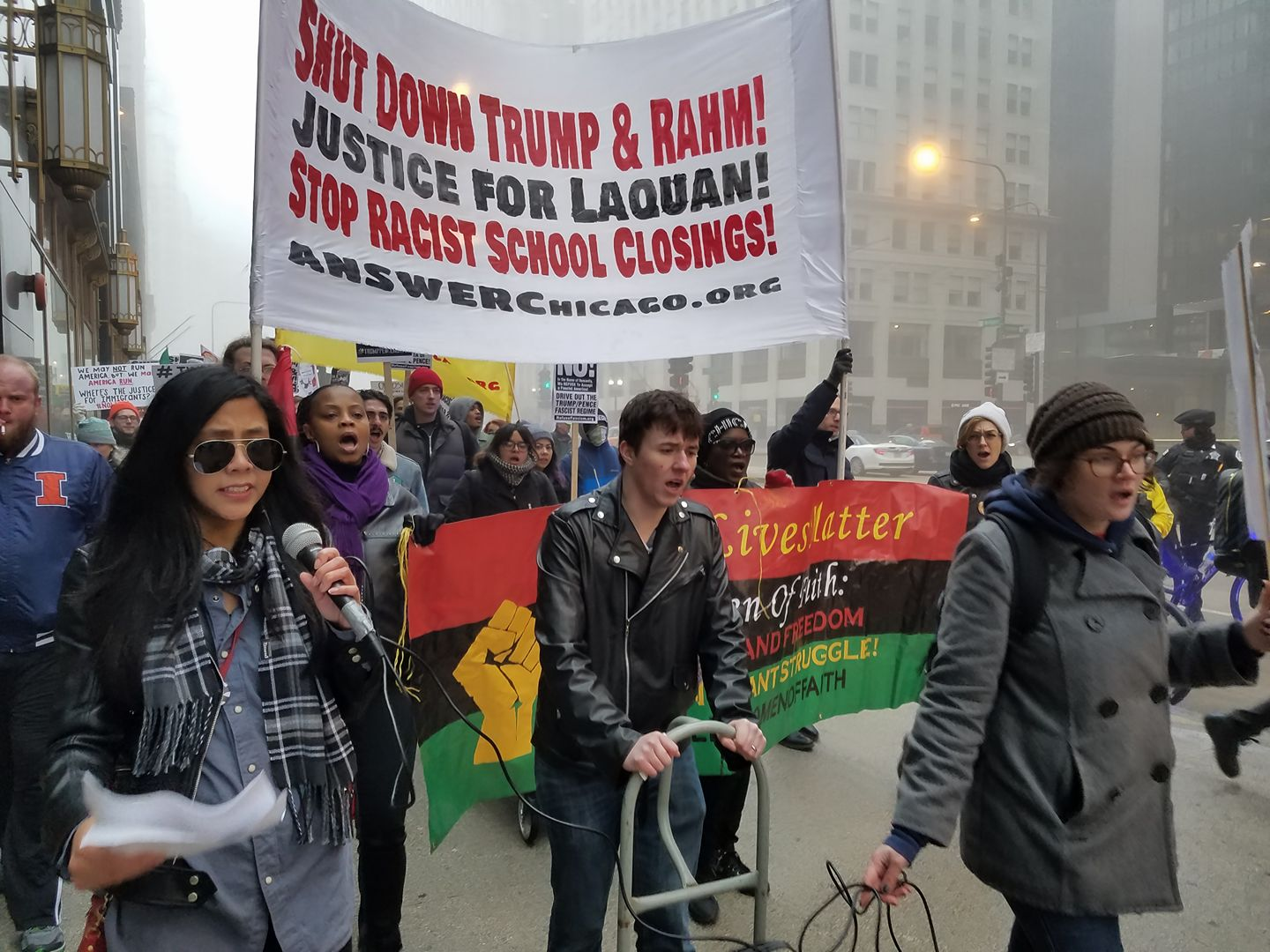 Photo of Chicago Marches Against Racism, War and Bigotry on 1 Year of Trump