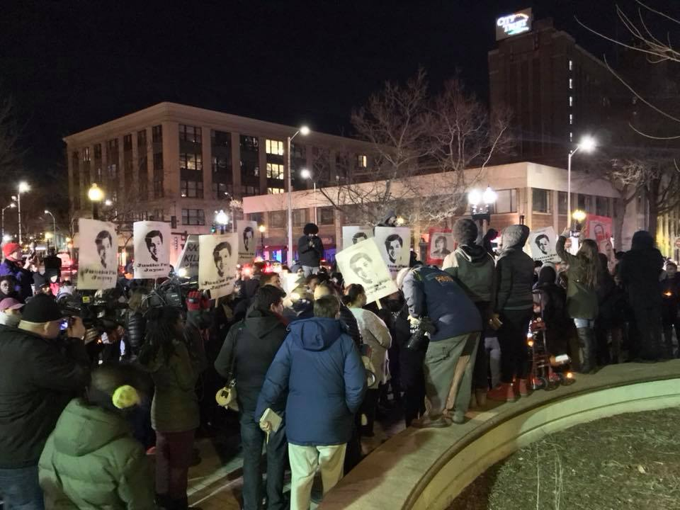 Photo of Bridgeport marches in outrage at killer cop release