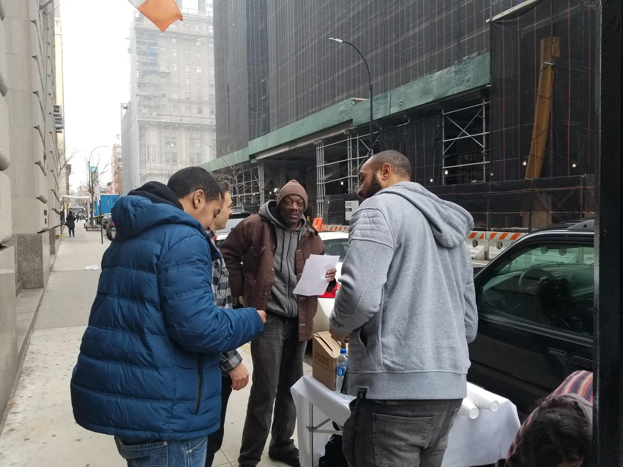 Photo of Brooklyn court outreach serving the people