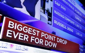 Biggest-ever point drop for Dow Industrials, nearly 1,200 points, occurred Monday, Feb. 5.