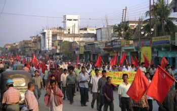 Communist Party of India (Marxist) rally in Tripura. Photo: Soman