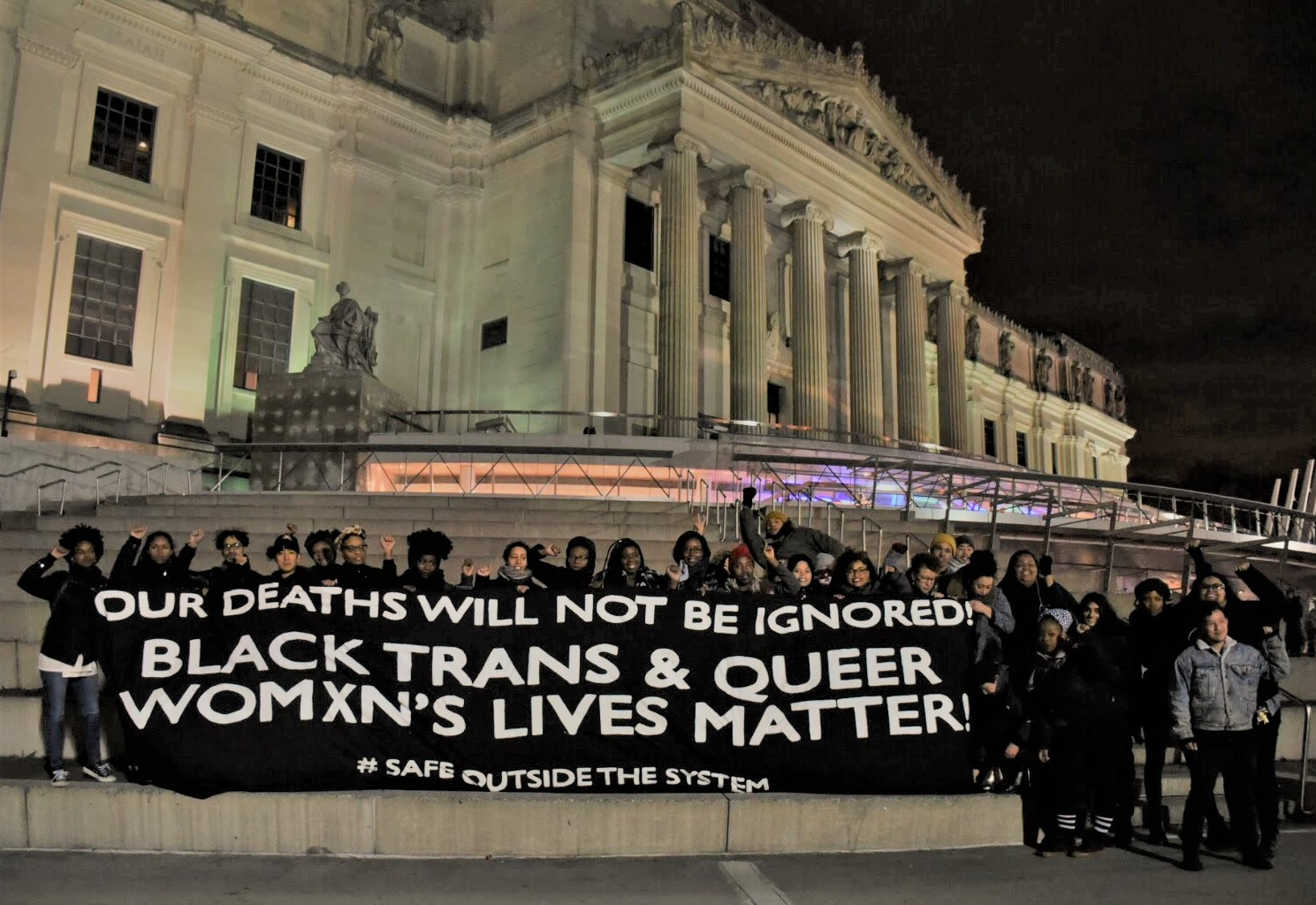 Brooklyn banner drop honors murdered Black trans and queer women the media ignored