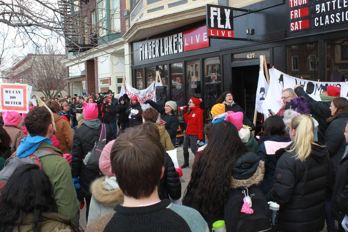 Photo of International Women's Day strike in Geneva, NY