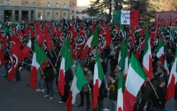 Demonstration of the fascist CasaPound party