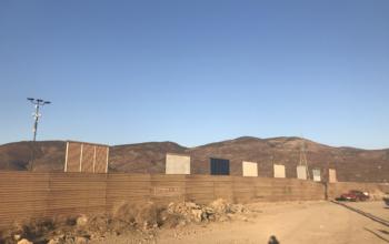Border wall. Photo: Liberation Staff