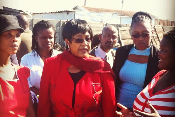 Winnie Mandela visits Sheffield Rd. in Capetown, 2012. Photo: SDI